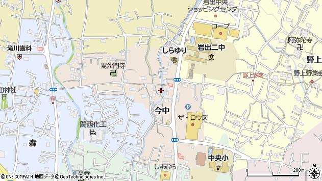 〒649-6204 和歌山県岩出市今中の地図