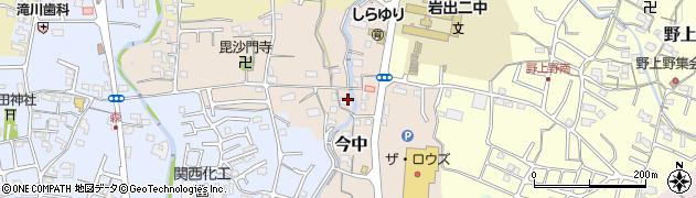 和歌山県岩出市今中周辺の地図