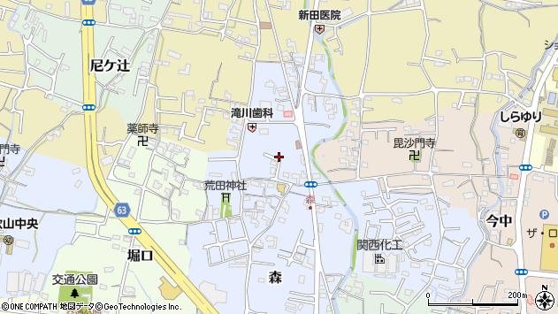 〒649-6205 和歌山県岩出市森の地図