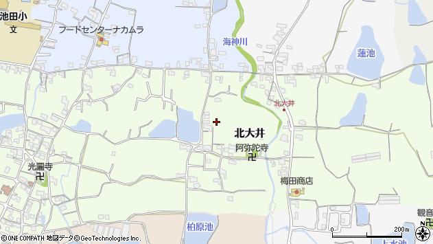 〒649-6406 和歌山県紀の川市北大井の地図