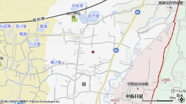 〒649-6305 和歌山県和歌山市谷の地図