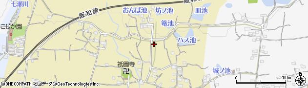 和歌山県和歌山市上黒谷周辺の地図