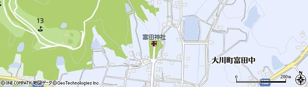 富田神社周辺の地図