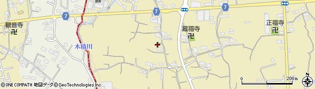 和歌山県紀の川市西三谷周辺の地図