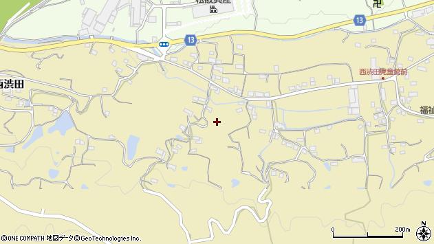 〒649-7154 和歌山県伊都郡かつらぎ町西渋田の地図
