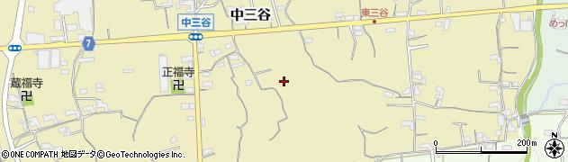和歌山県紀の川市中三谷周辺の地図