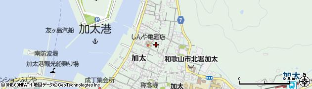 和歌山県和歌山市加太周辺の地図