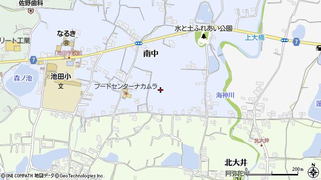 〒649-6431 和歌山県紀の川市南中の地図
