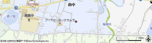 和歌山県紀の川市南中周辺の地図