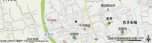 和歌山県紀の川市名手市場周辺の地図
