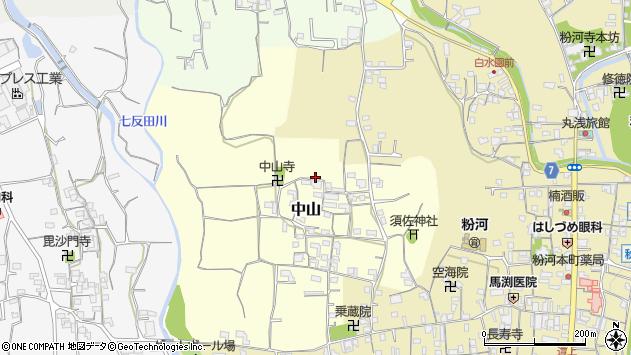 〒649-6532 和歌山県紀の川市中山の地図