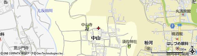 和歌山県紀の川市中山周辺の地図
