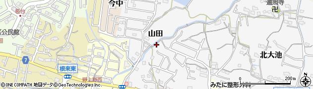 和歌山県岩出市山田周辺の地図