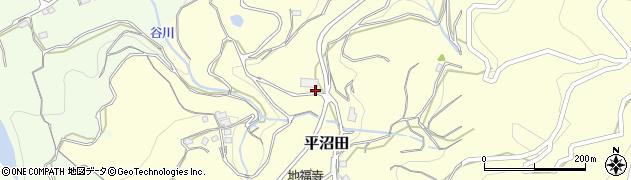 和歌山県かつらぎ町(伊都郡)平沼田周辺の地図