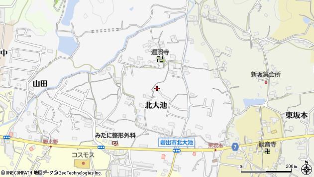 〒649-6219 和歌山県岩出市北大池の地図