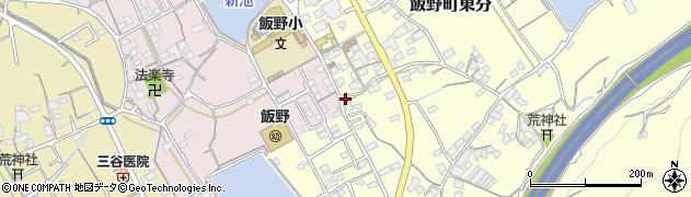 香川県丸亀市飯野町東分周辺の地図