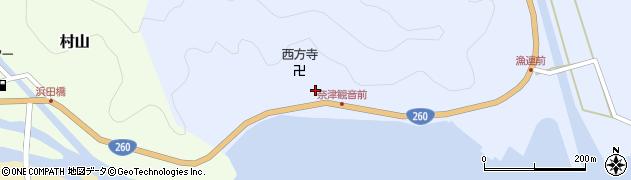 奈津観音堂周辺の地図