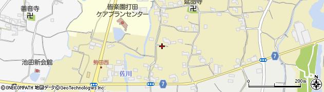 和歌山県紀の川市北勢田周辺の地図