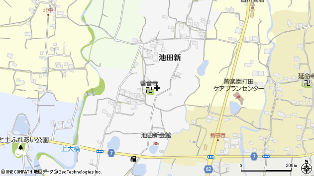 〒649-6407 和歌山県紀の川市池田新の地図