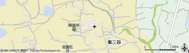 和歌山県紀の川市東三谷周辺の地図