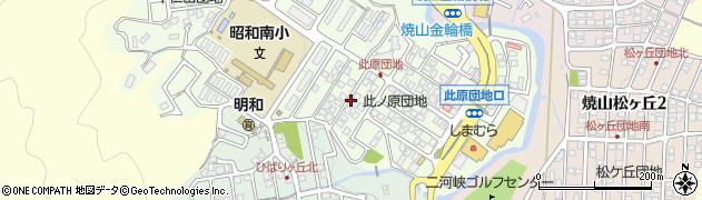 広島県呉市焼山此原町周辺の地図