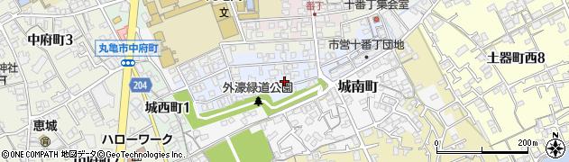 香川県丸亀市十番丁周辺の地図