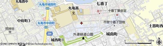 香川県丸亀市九番丁周辺の地図