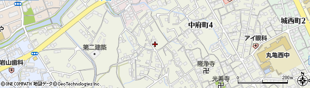 香川県丸亀市津森町周辺の地図