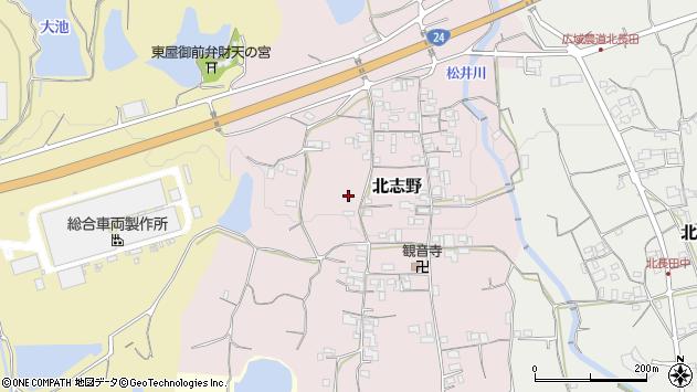〒649-6501 和歌山県紀の川市北志野の地図