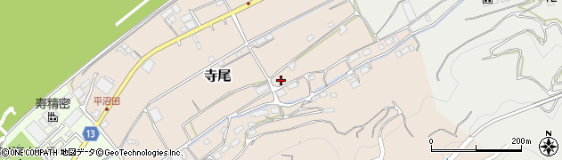 和歌山県かつらぎ町(伊都郡)寺尾周辺の地図