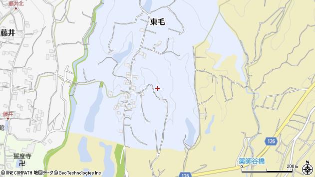 〒649-6512 和歌山県紀の川市東毛の地図