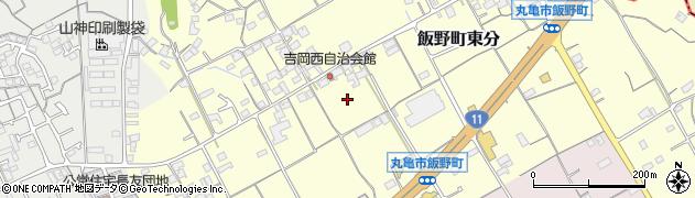 香川県丸亀市飯野町東分中原周辺の地図