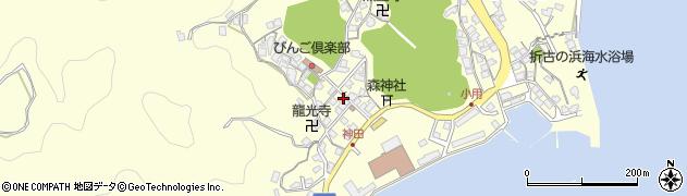広島県尾道市因島三庄町(七区)周辺の地図
