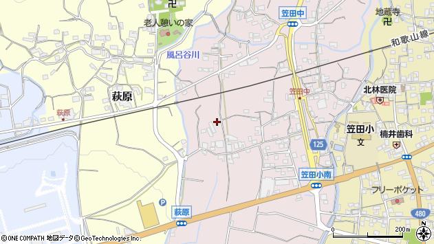 〒649-7162 和歌山県伊都郡かつらぎ町笠田中の地図