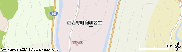 奈良県五條市西吉野町向加名生周辺の地図