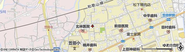 かつらぎ笠田郵便局周辺の地図