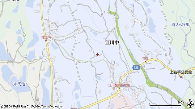 〒649-6605 和歌山県紀の川市江川中の地図