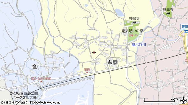 〒649-7163 和歌山県伊都郡かつらぎ町萩原の地図