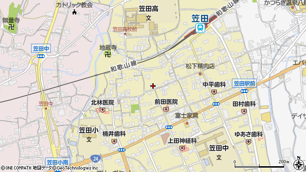 〒649-7161 和歌山県伊都郡かつらぎ町笠田東の地図