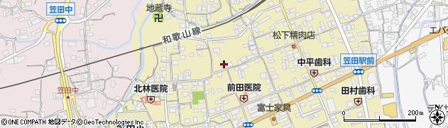 和歌山県かつらぎ町(伊都郡)笠田東周辺の地図