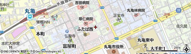 香川県丸亀市米屋町周辺の地図