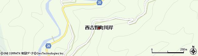 奈良県五條市西吉野町川岸周辺の地図