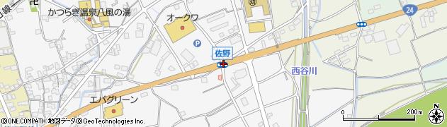 佐野周辺の地図