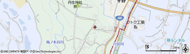 和歌山県紀の川市名手下周辺の地図