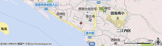広島県尾道市因島土生町(二江内区)周辺の地図