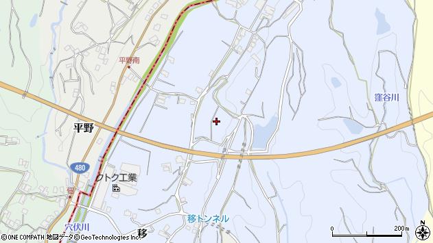 〒649-7167 和歌山県伊都郡かつらぎ町移の地図