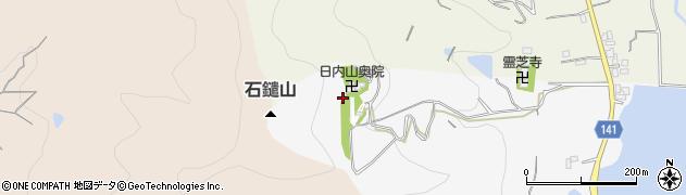 日内山奥之院周辺の地図