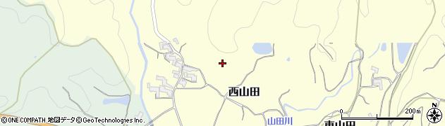 和歌山県紀の川市西山田周辺の地図