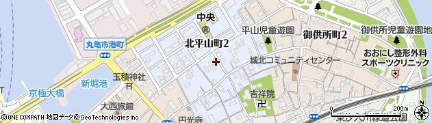 香川県丸亀市北平山町周辺の地図