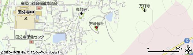 万灯神社周辺の地図